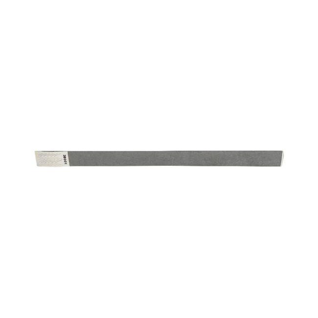 Tyvek-Kontrollarmband (Papierarmband) mit Klebeverschluss 19mm Silber-0