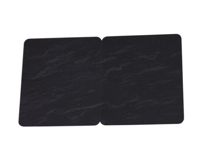 Kartenrohlinge Schwarz Schieferoptik geschnitten-13746