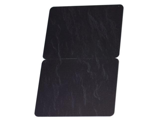 Kartenrohlinge Schwarz Schieferoptik geschnitten-13747