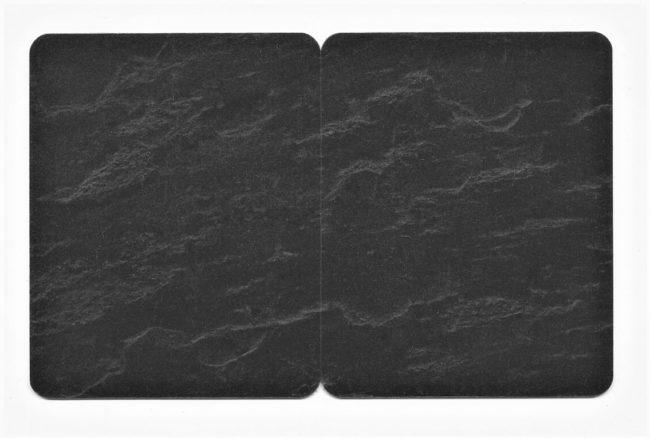 Kartenrohlinge Schwarz Schieferoptik geschnitten-0