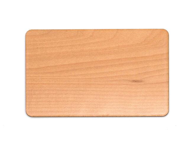 Holzkarten Ahorn mit Laminat