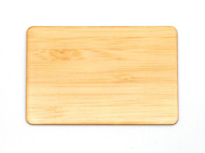 Holzkarten Bambus mit Laminat