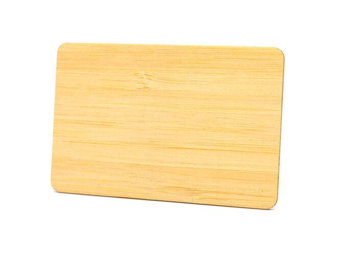 Holzkarten Bambus ohne Laminat