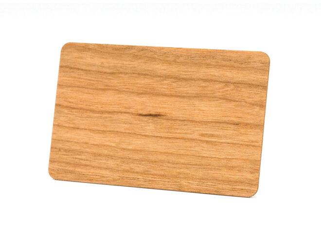 Holzkarten Rote Kirsche ohne Laminat