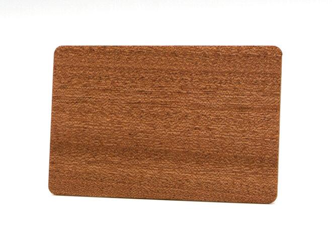 Holzkarten Sapelli ohne Laminat