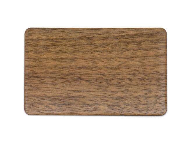 Holzkarten Schwarzer Nussbaum mit Laminat