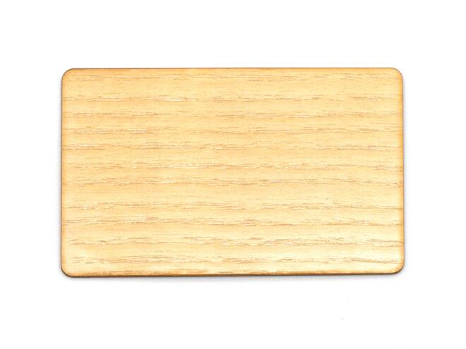 Holzkarten Weisse Eiche mit Laminat