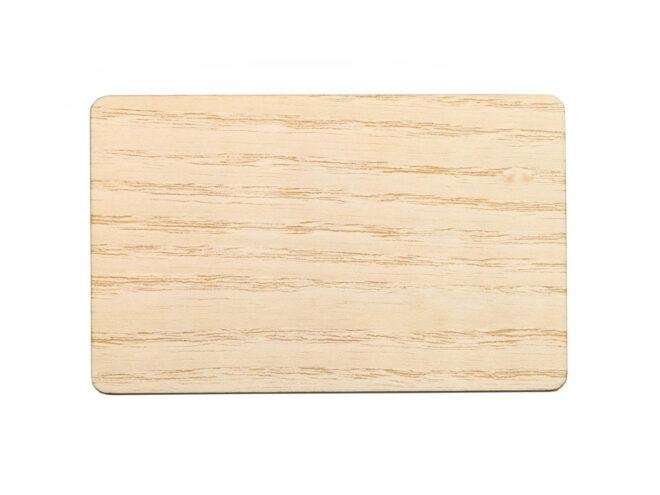 Holzkarten Weisse Eiche ohne Laminat