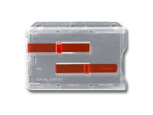 Kartenhalter S5 mit 2 Schiebern Rot