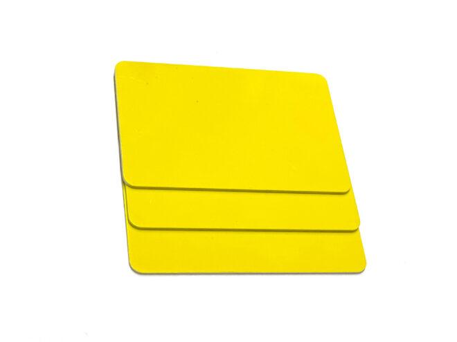 Sonderformatkarten gelb