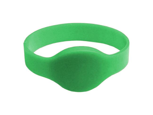 RFID/NFC Silikon-Armband Typ 1 Grün