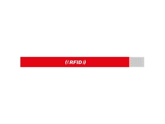 RFID TVK Einweg-Armband Rot