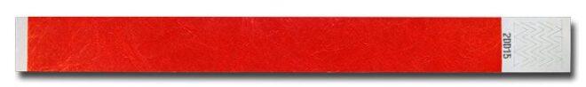 Tyvek-Kontrollarmband (Papierarmband) mit Klebeverschluss 19mm Rot-0