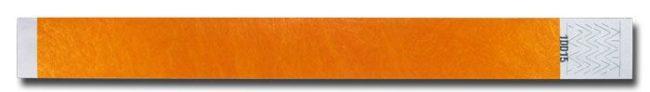 Tyvek-Kontrollarmband (Papierarmband) mit Klebeverschluss 25mm orange-0