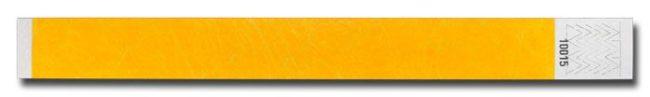 Tyvek-Kontrollarmband (Papierarmband) mit Klebeverschluss 25mm Gelb-0