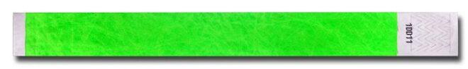 Tyvek-Kontrollarmband (Papierarmband) mit Klebeverschluss 19mm Grün-0