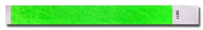 Tyvek-Kontrollarmband (Papierarmband) mit Klebeverschluss 25mm Grün-0
