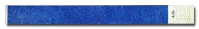 Tyvek-Kontrollarmband (Papierarmband) mit Klebeverschluss 19mm blau-0