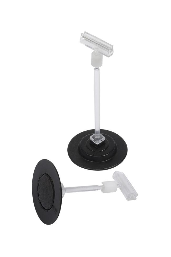 Magnetischer Standfuss rund, schwarz, 8cm-1156