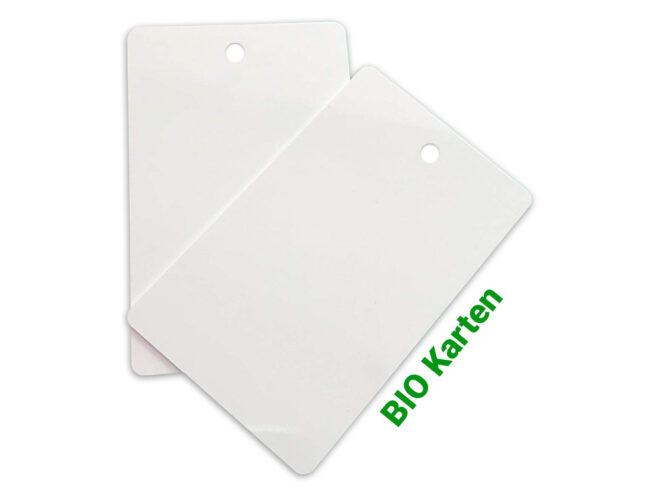 Bio Karten / Öko Karten / PET-Karten Rundloch HF