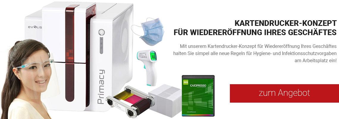 Kartendrucker Corona-Lockerungen Kit