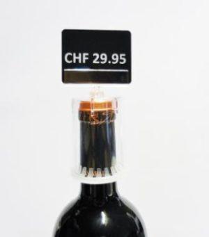Weinflaschenhalter mit Schilderhalter gross-0