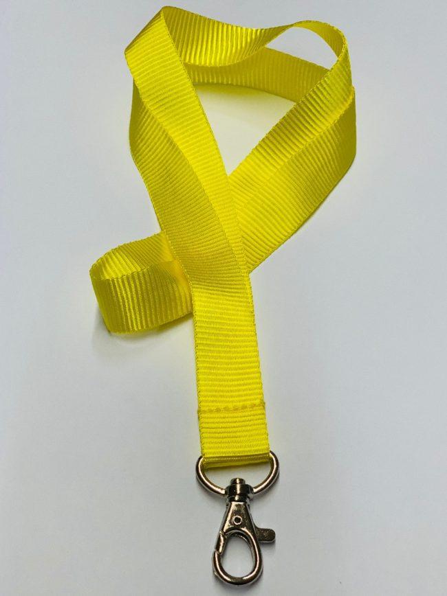 Umhängeband / Lanyard 20 mm unbedruckt gelb-0
