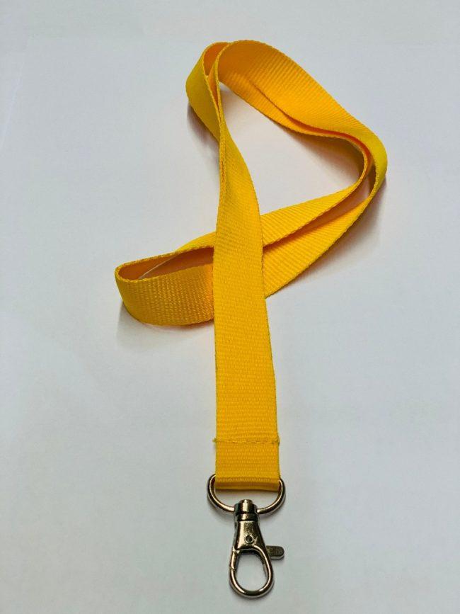 Umhängeband / Lanyard 20 mm unbedruckt dunkelgelb-0