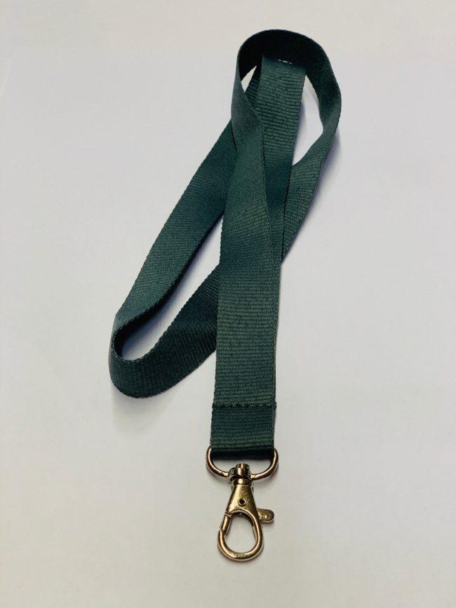 Umhängeband / Lanyard 20 mm unbedruckt grün-0