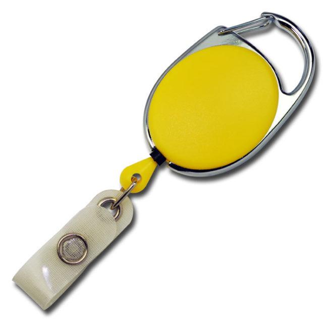 Ovale Jojos vollfarbig mit Bügel in Gelb-0