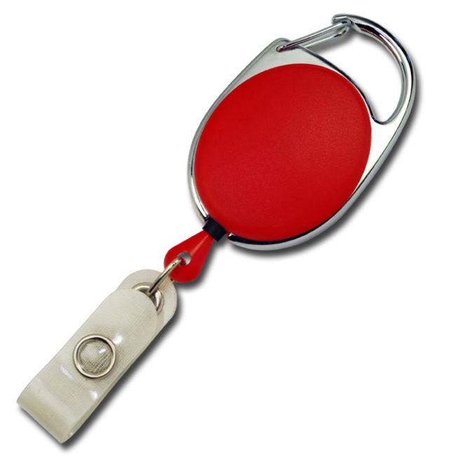 Ovale Jojos vollfarbig mit Bügel in rot-0