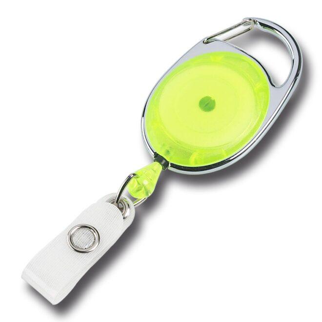 Ovale Jojos transparent mit Bügel in Gelb-0