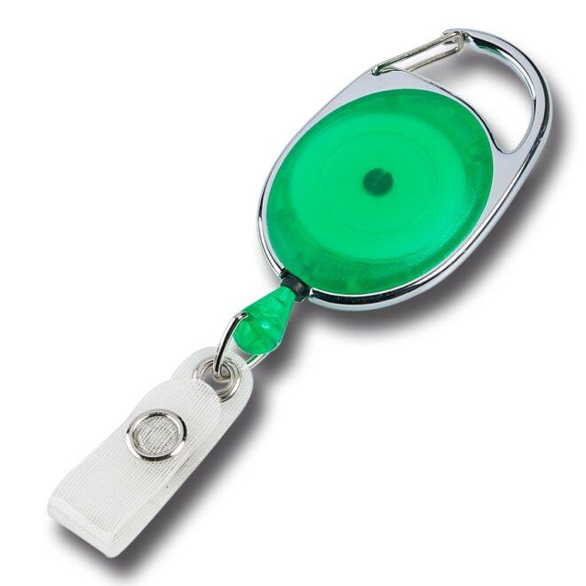 Ovale Jojos transparent mit Bügel in Grün-0