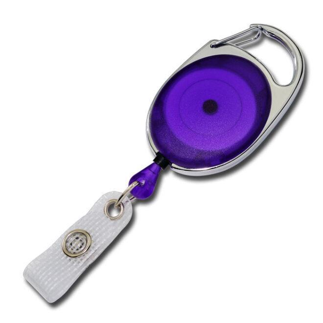 Ovale Jojos transparent mit Bügel in Violett-0