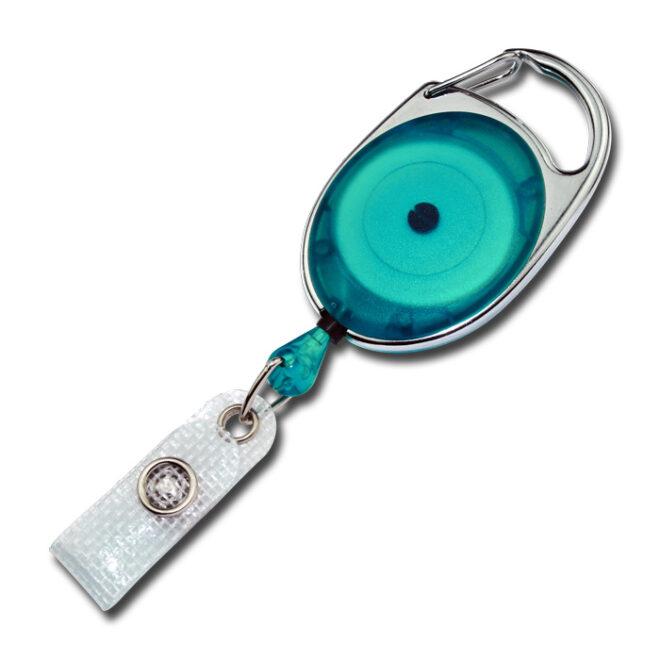 Ovale Jojos transparent mit Bügel in türkis-0