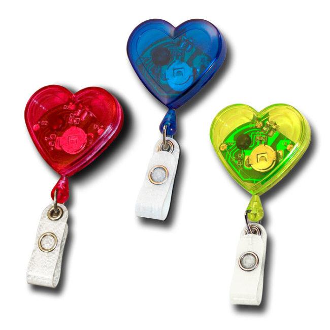 Jojo Herzform mit blinkenden Leuchtdioden -3338