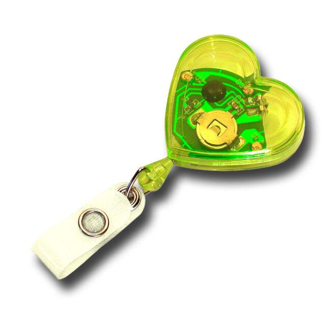 Jojo Herzform mit blinkenden Leuchtdioden -3340