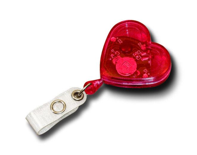 Jojo Herzform mit blinkenden Leuchtdioden -0