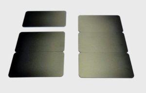 Kartenrohlinge Namentags schwarz matt 3x-0