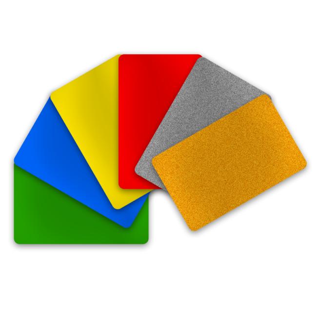 PVC Karten verschiedene Farben 0,50 mm (Dünnplastikkarten)-0