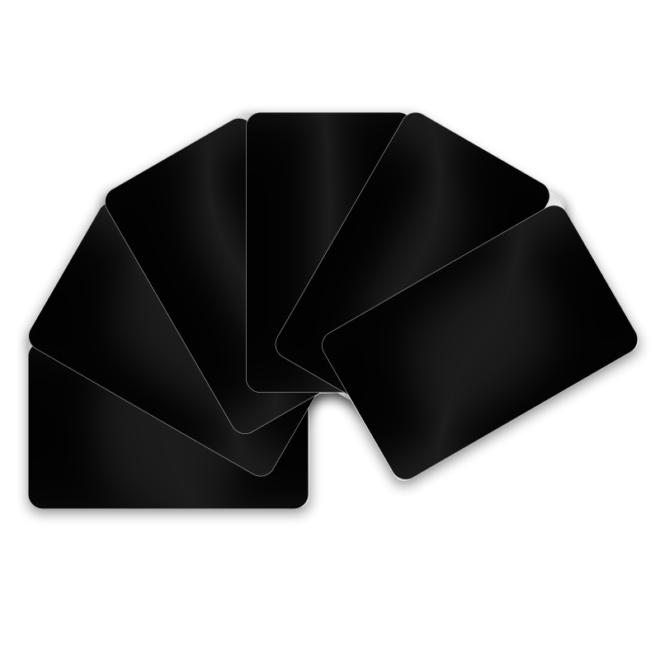 Kartenrohlinge Schwarz 0.76mm-0