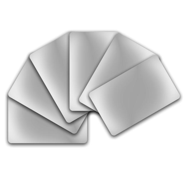 PVC Karten XXL - weiss-0