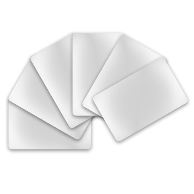 PVC Karten weiss - Hochglanzweiss 500er-Pack-0