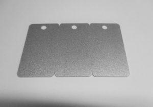 Kartenrohlinge Namentags silber 3-fach gelocht-0