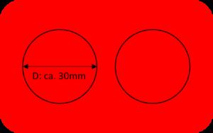 Kartenrohlinge Namentags rot 2 Kreise-0