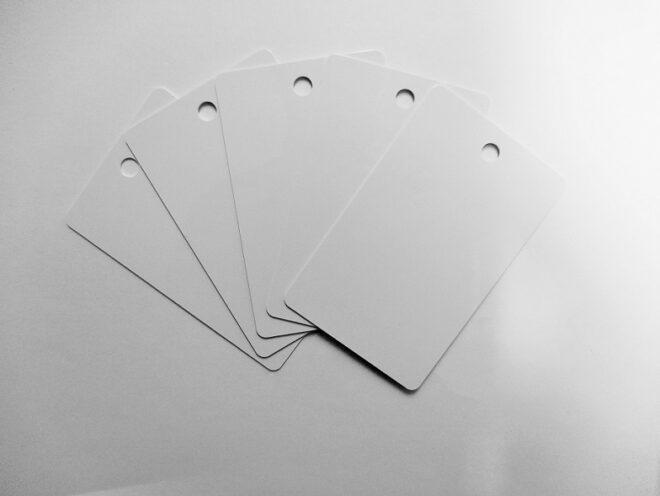 PVC Karten weiss, Rundloch HF-0