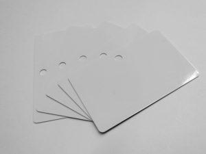 PVC Karten weiss, Rundloch QF-0