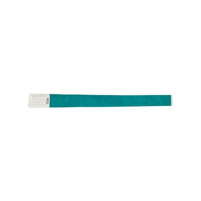 Tyvek-Kontrollarmband (Papierarmband) mit Klebeverschluss 19mm Türkis-0