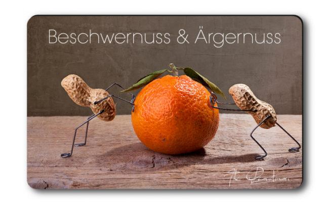 """Magnethaftkarten - Motiv """"Beschwernuss & Ärgernuss""""-0"""
