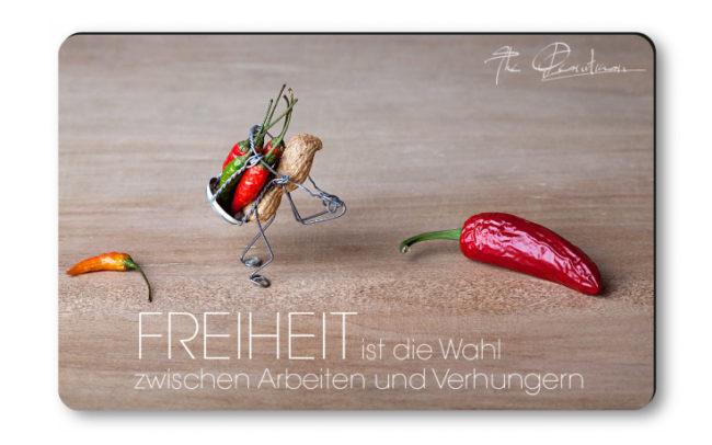 """Magnethaftkarten - Motiv """"Freiheit""""-0"""
